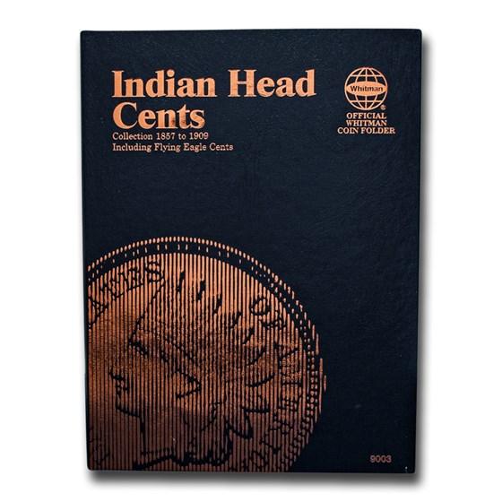 Whitman Folder #9003 - Indian Head Cents - 1857-1909