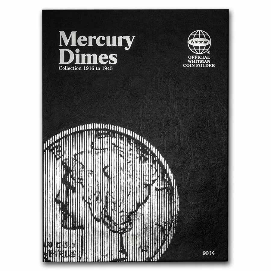 Whitman Folder #9014 - Mercury Dimes 1916-1945