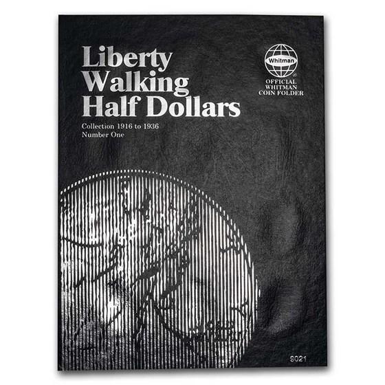 Whitman Folder #9021 - Liberty Walking Half Dollars #1 -1916-1936