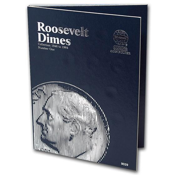 Whitman Folder #9029 - Roosevelt Dimes #1 - 1946-1964