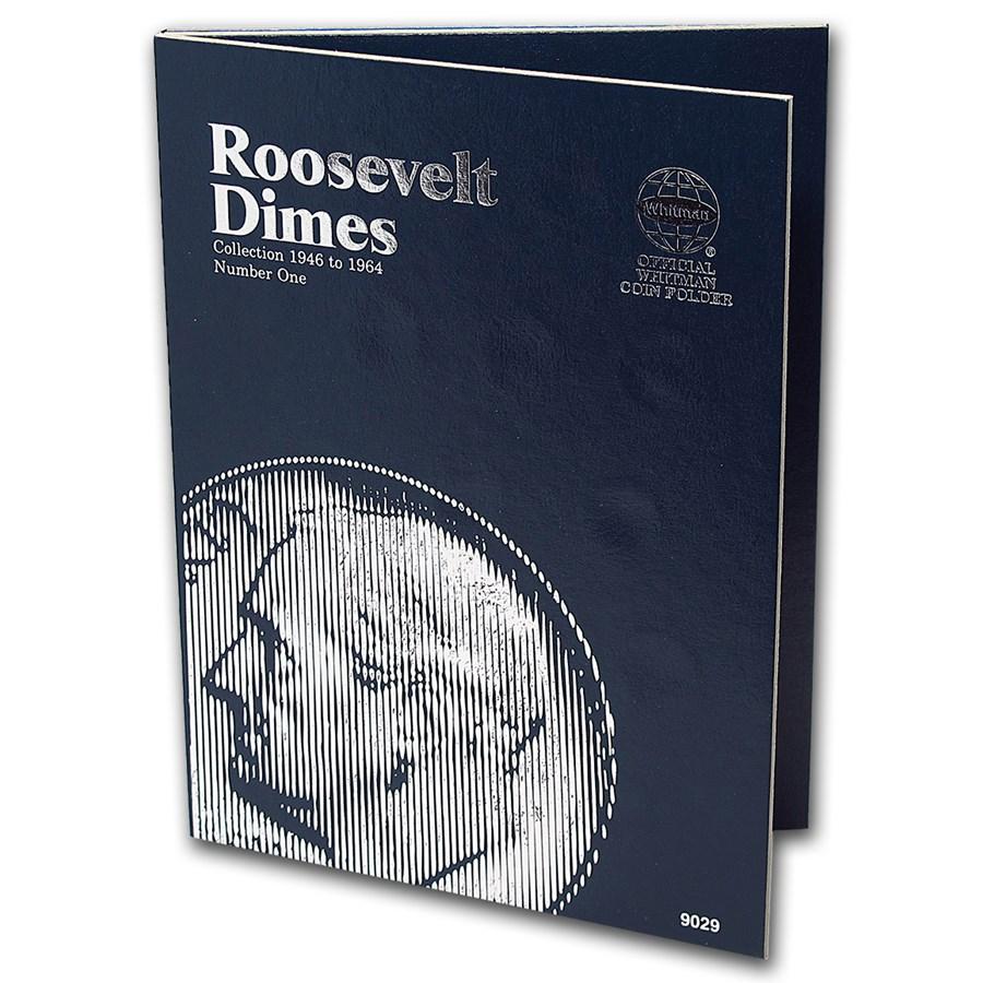 Whitman Folder #9029 - Roosevelt Dimes 1946-1964