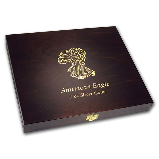 Wooden Presentation Box - America 1 oz Silver Eagle Series