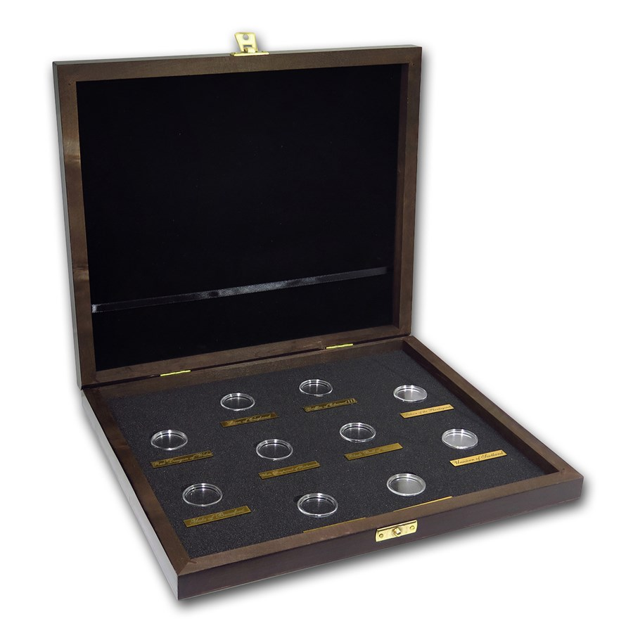Wooden Presentation Box - GB 1/4 oz Gold Queen's Beasts Series
