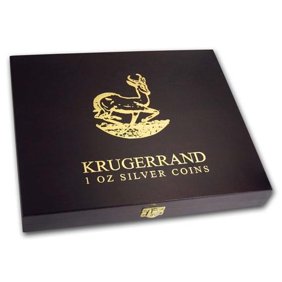 Wooden Presentation Box - South African 1 oz Silver Krugerrands