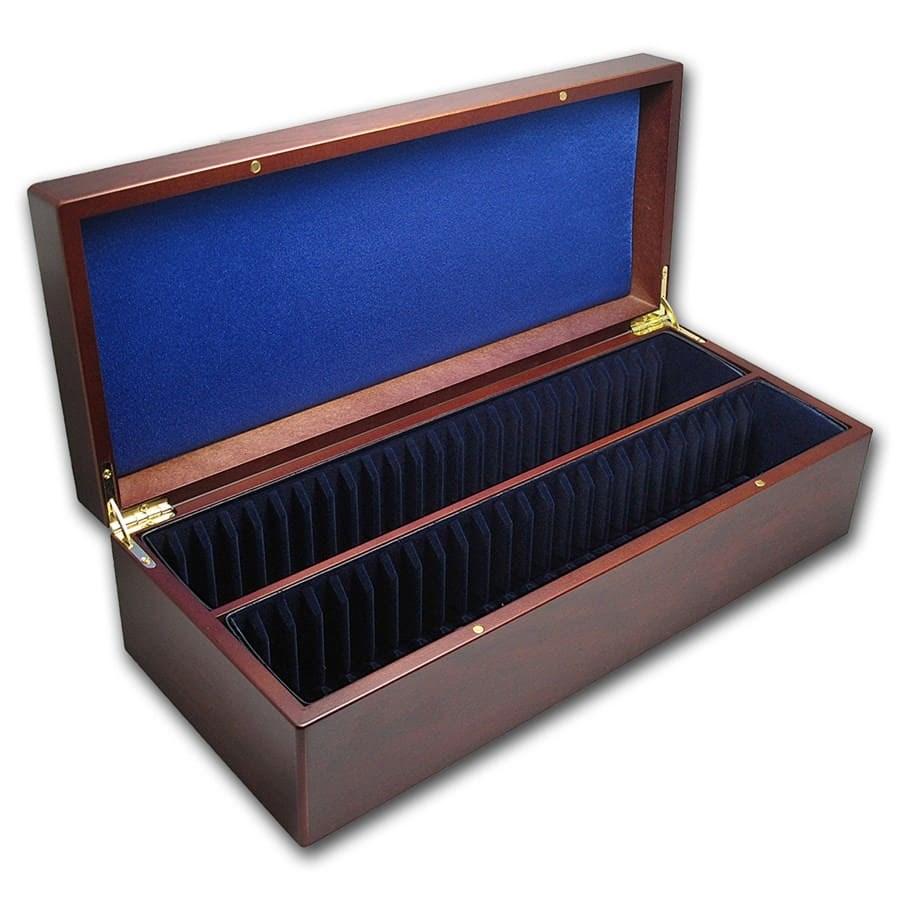 Wooden Slab Storage Box (Mahogany Finish) - Fifty Slabs