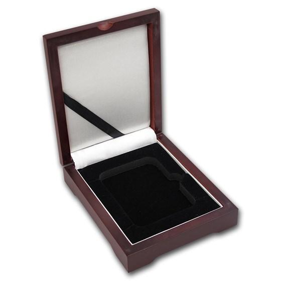 Wooden Slab Storage Box - Single Slab (Dark Mahogany)