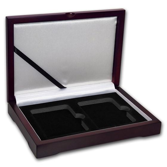 Wooden Slab Storage Box - Two Slab (Dark Mahogany)