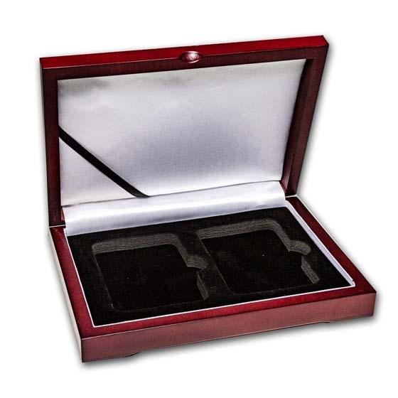 Wooden Slab Storage Box - Two Slab (Sedona Red)
