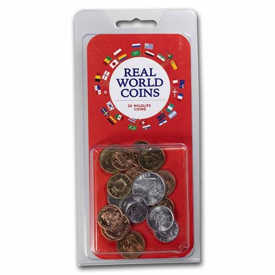 World Set 20-Coins Wildlife