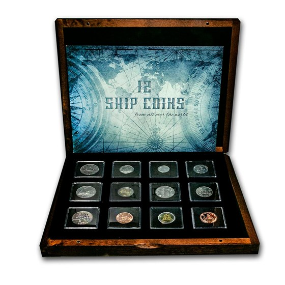 World Ship Collection 12 Coins from Around the World