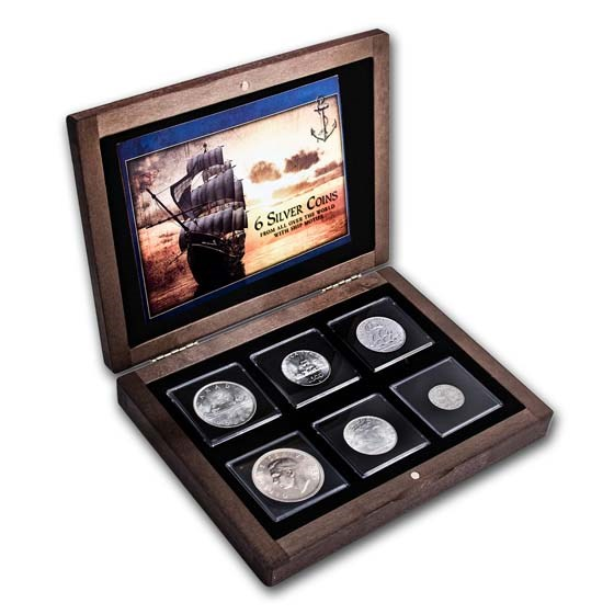 World Ship Silver Collection 6 Coins from Around the World