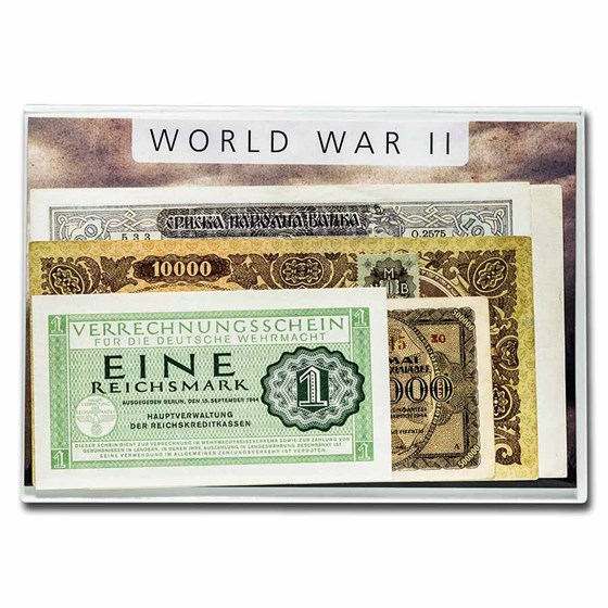 World War II 5 Banknote Presentation Set