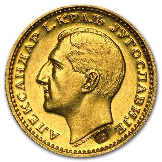 Yugoslavia Gold Dukat Alexander I Dtls Bird/Corn (1931-1933) AU